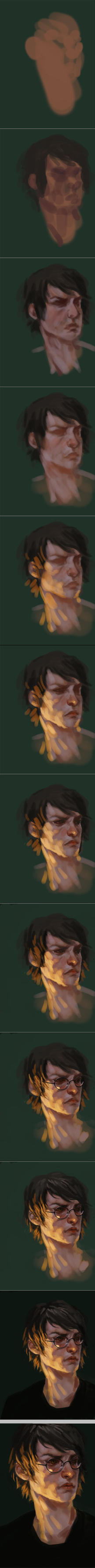 harry portrait process by toerning