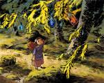 Elsie in the woods