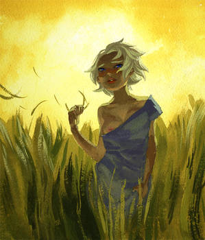 Dany in some grass.