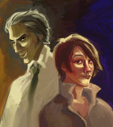Leslie and Mr. Bad Cop by toerning