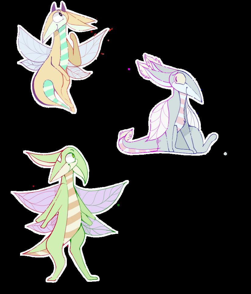 -Fairy Dragon Adoptables- by cayotze