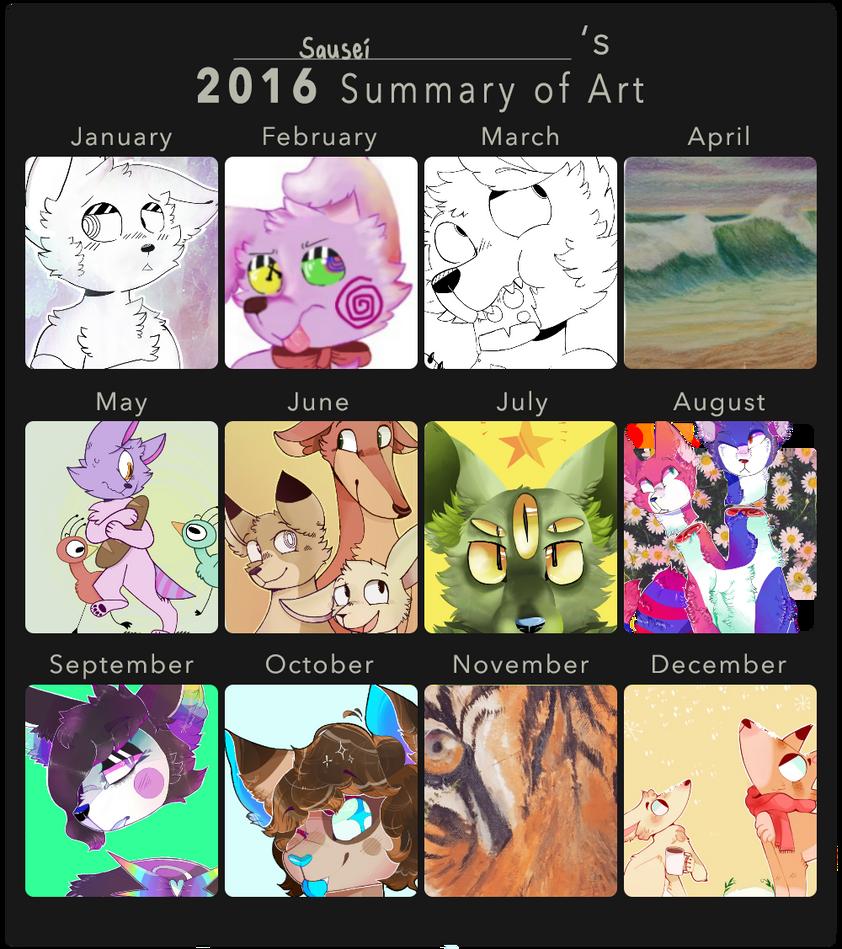 Art Summary 2016 by cayotze
