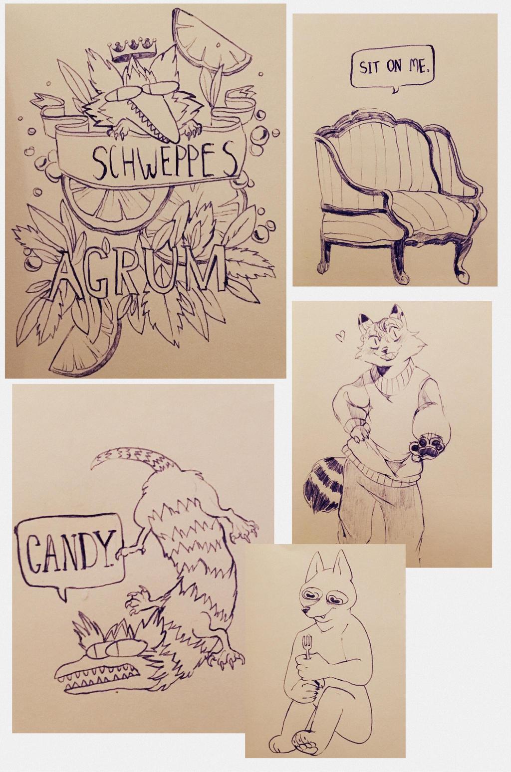 sketchdump9 by cayotze