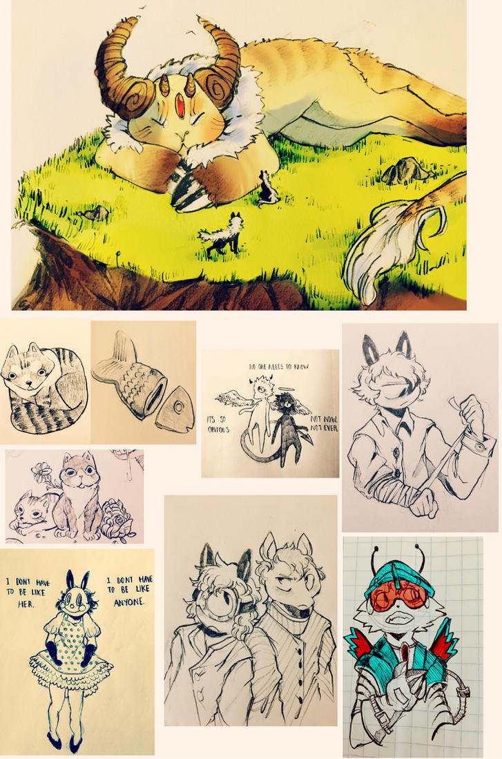 sketchdump14 by cayotze