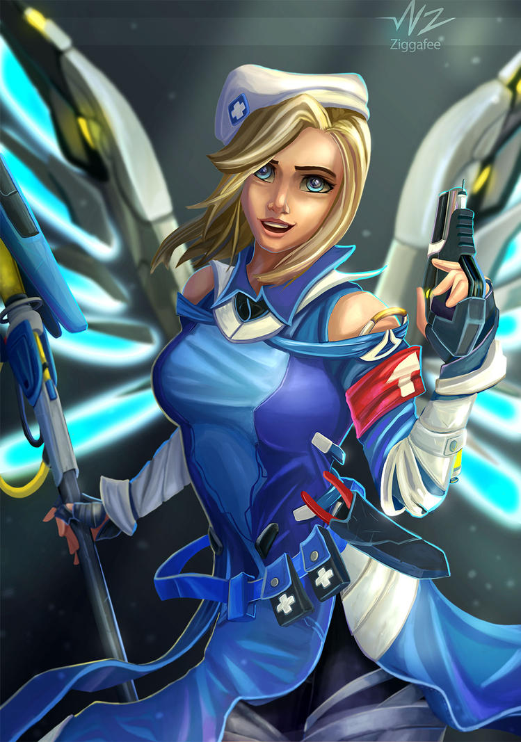 Mercy Uprising Outfit by Ziggafee