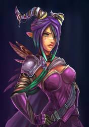 Eliana the Dark Warlock by Ziggafee
