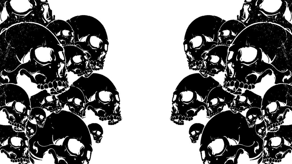 Skull Wallpaper By HazeelArt