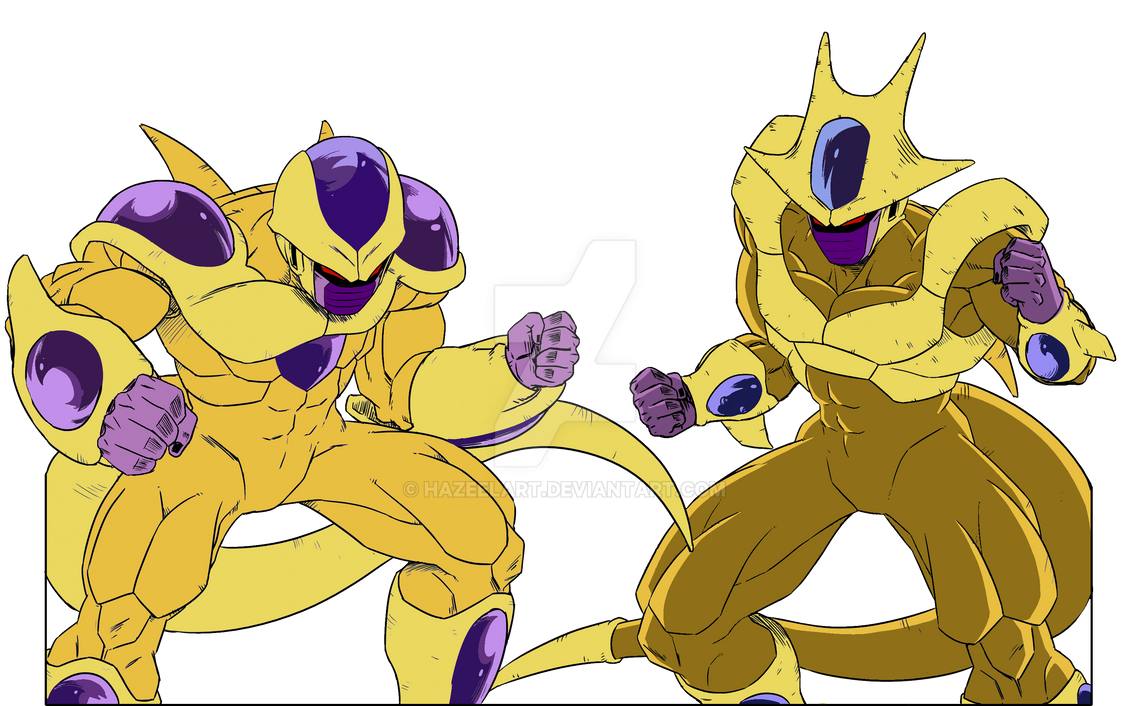 Golden Brothers (DBM Freeza and Cooler 5th form) by HazeelArt on ...