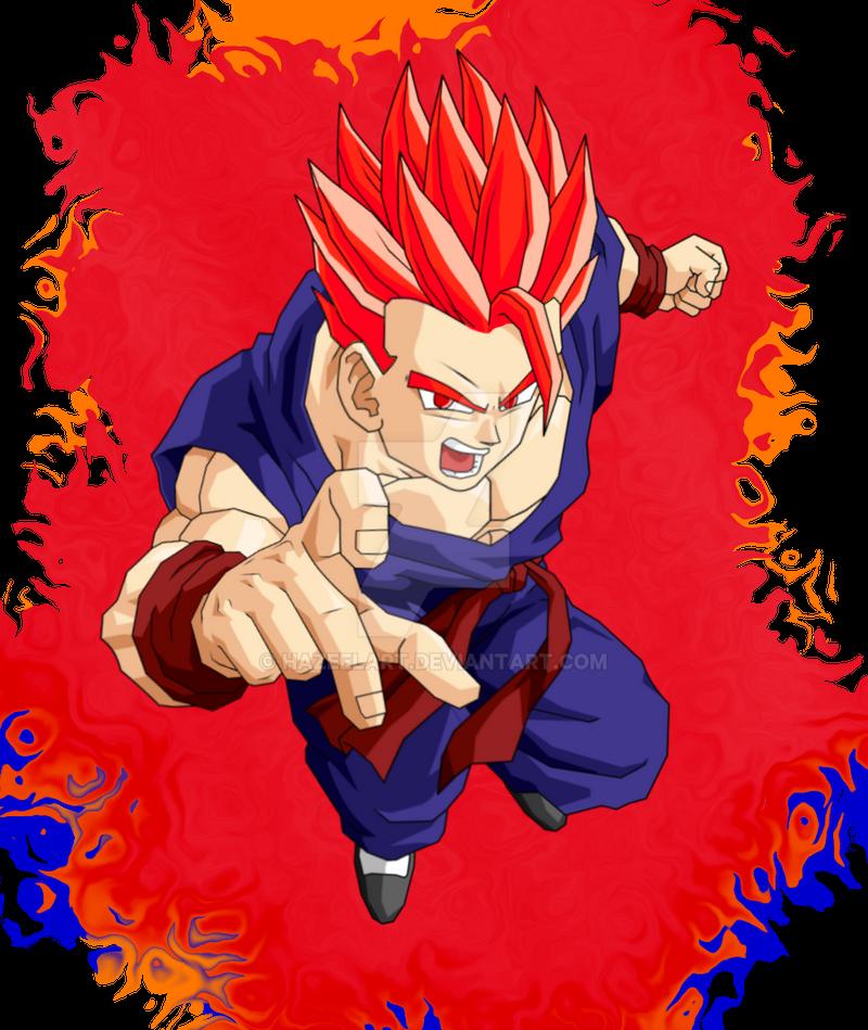 Adult Gohan Super Saiyan God by HazeelArt on DeviantArt