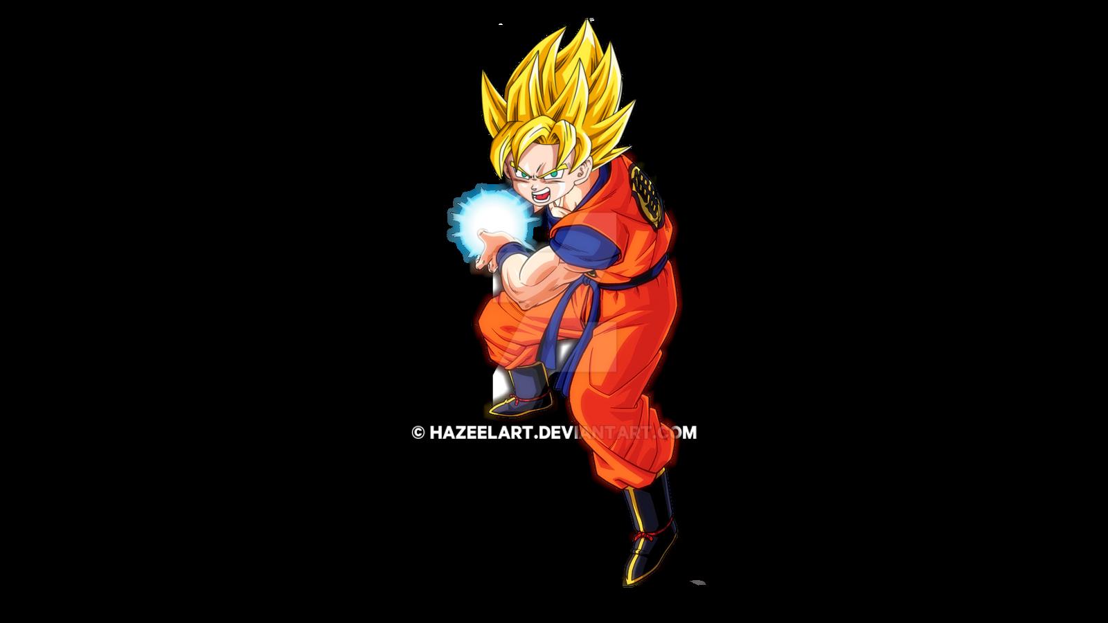 Young Goku Super Saiyan Kamehameha by HazeelArt on DeviantArt