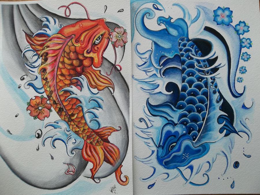 Gallery yin yang fish painting for Koi fish yin yang tattoo