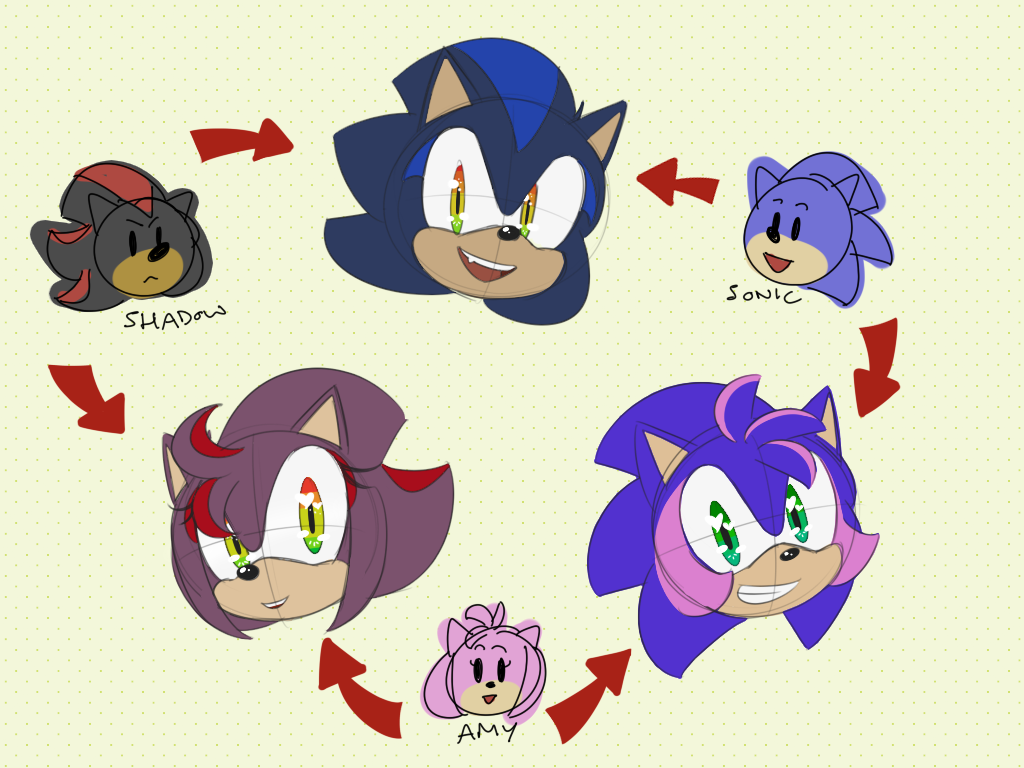Sonic amy and shadow fusions by metal harbor on deviantart - Sonic et shadow ...