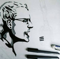 My new drawing of Chester Bennington from Linkin P