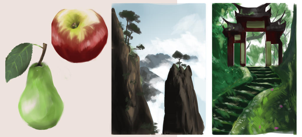 Digital painting exercises by sarty96