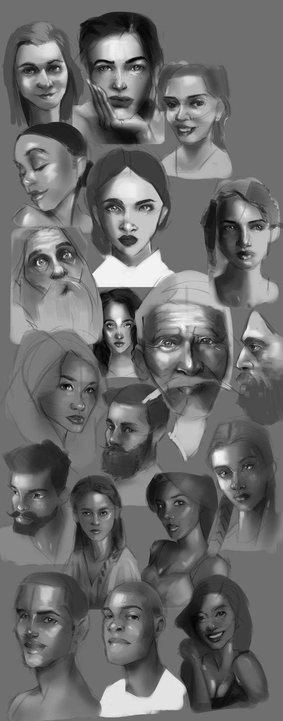 Faces Exercise by sarty96