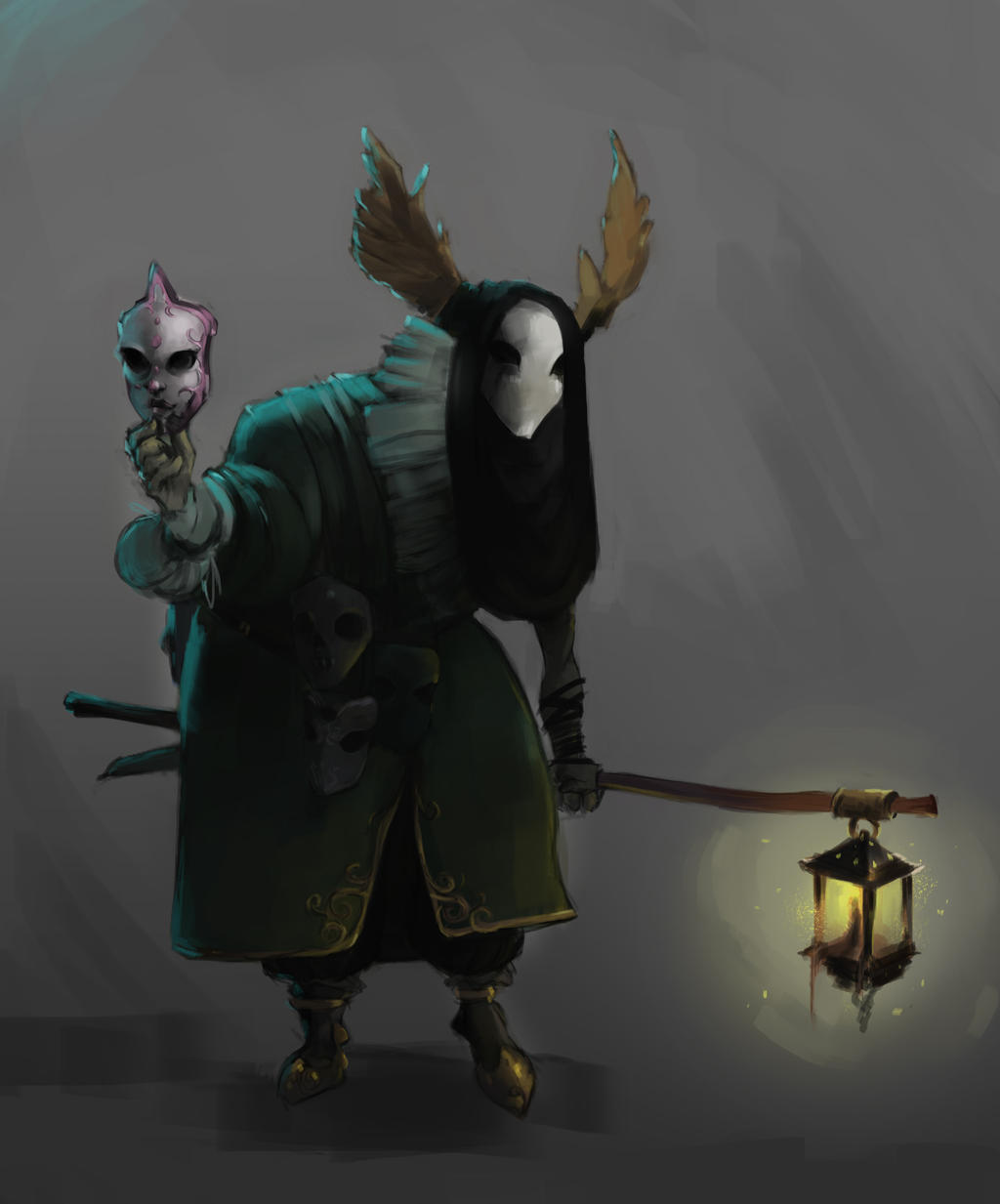 Character Design Challange-mask's merchant by sarty96