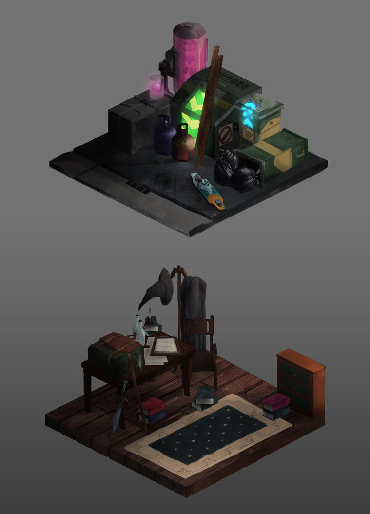 ISOMETRIC ART by sarty96