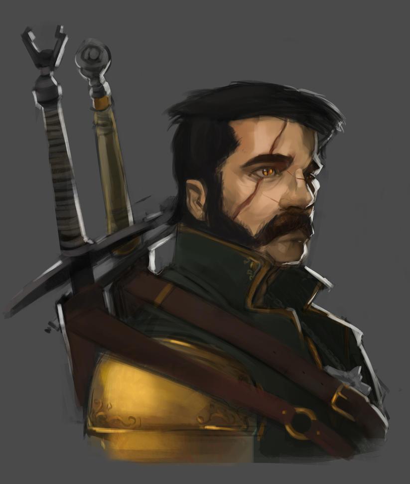 Witcher portrait by sarty96