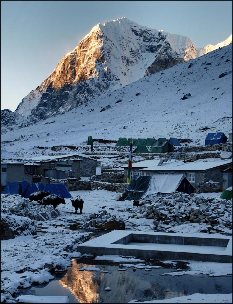 Gorak Shep, after an overnight snowfall by NikolaiMalykh