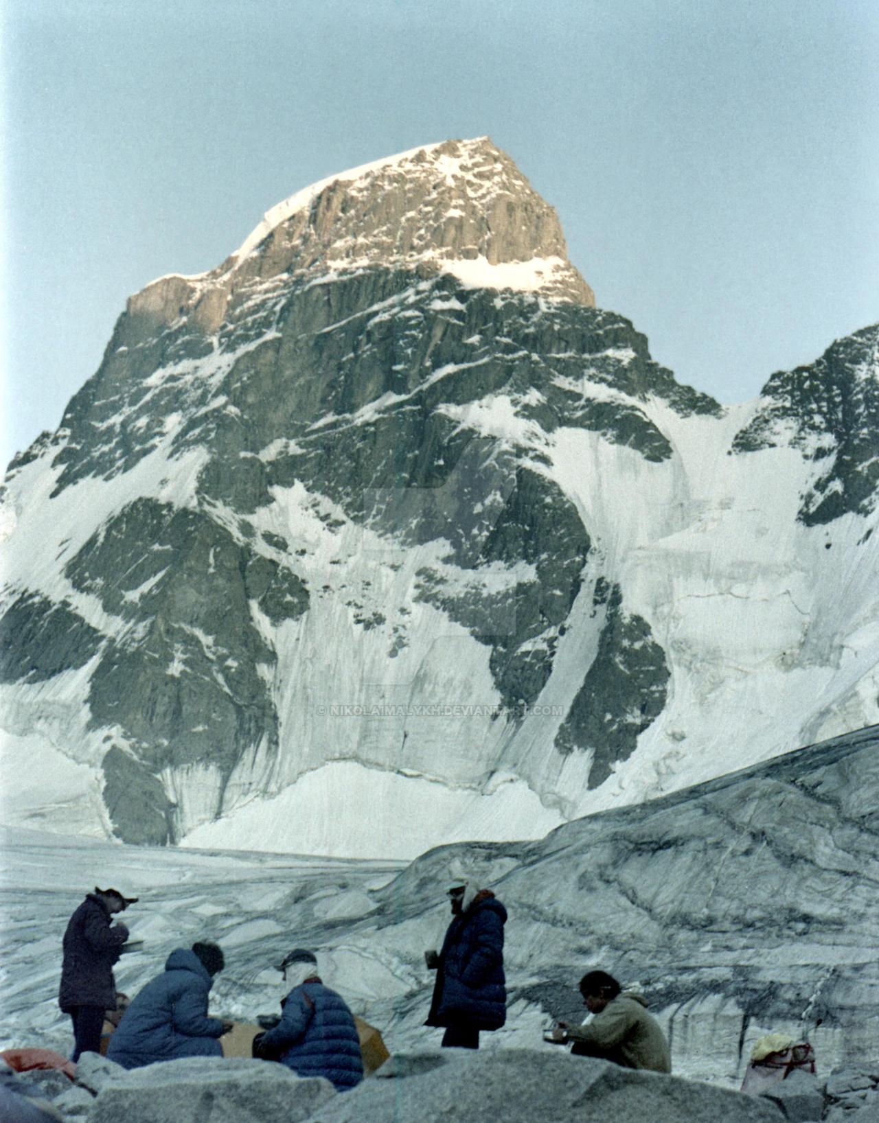 Dinner on the glacier Salyk by NikolaiMalykh
