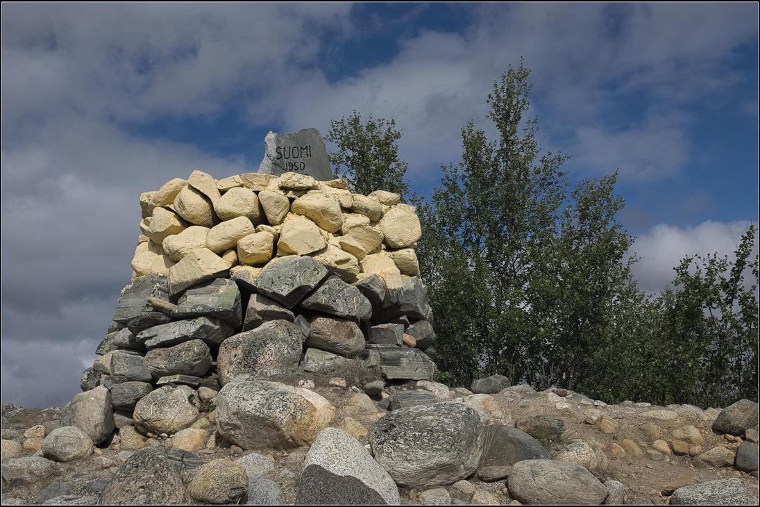 Border cairn by NikolaiMalykh