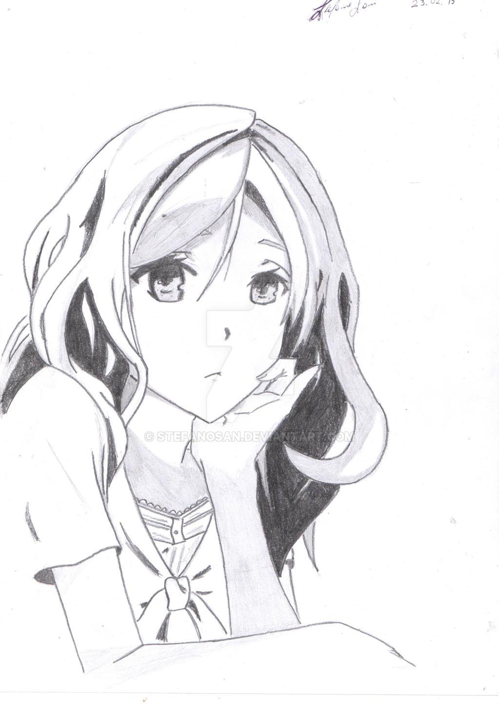 Traditional draw manga girl by stefanosan on deviantart