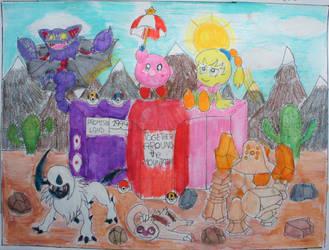 Kirby and Tiff Pokemon Team by Puswi