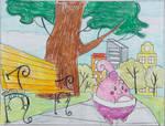 Happiny Park Scene by Puswi