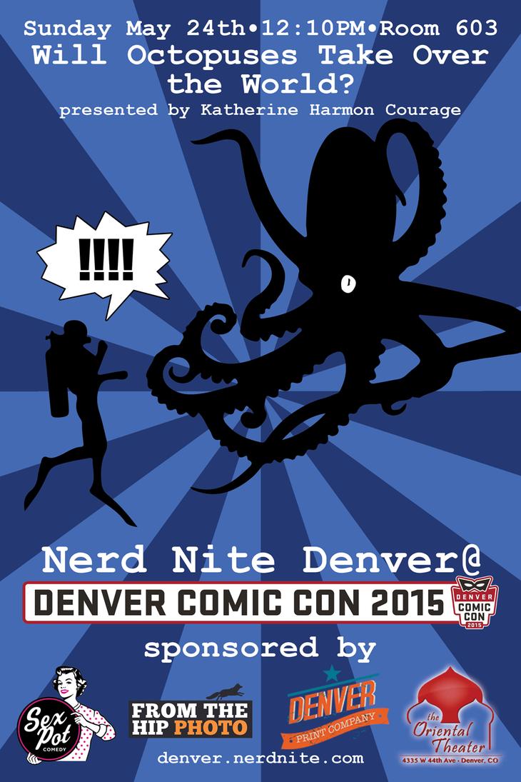 Denver Comic Con 2015: Nerd Nite Octopus flyer by ElKinesis