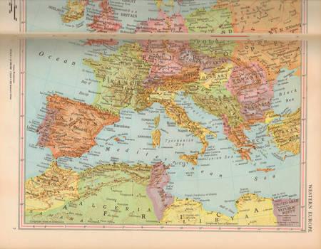 Vintage Map Texture 03