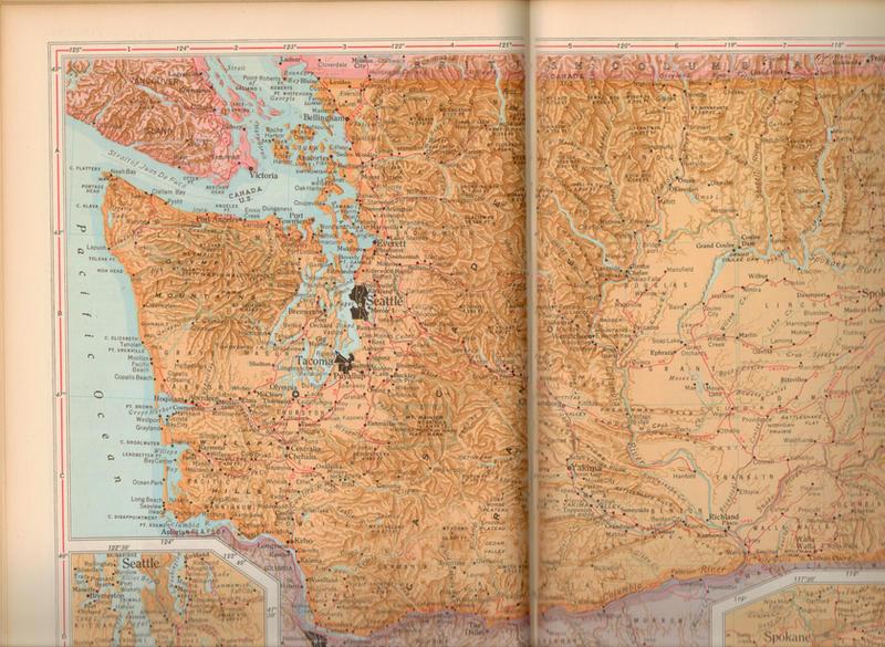 Vintage Washington Map Texture by rkStock