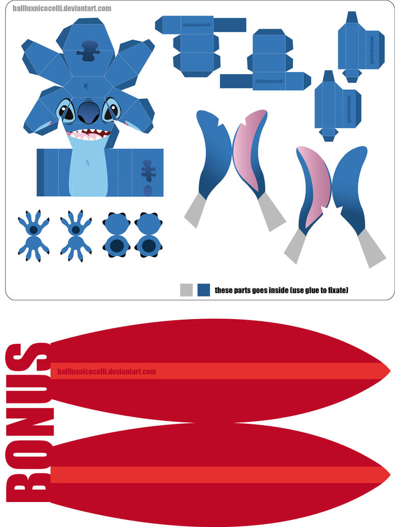 Stitch PaperCraft NEW VERSION by balluxnicocelli
