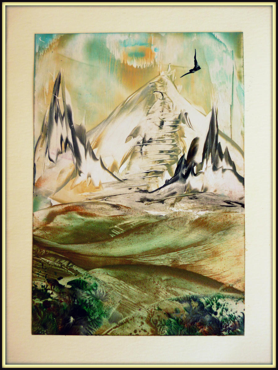 Simple mountain landscape by SvetAnima