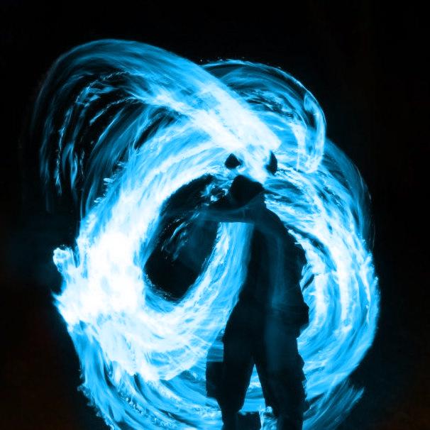 Blue Fire Poi By JG Edits