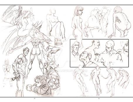 2012 Sketchbook: Evolution pages 44 and 45