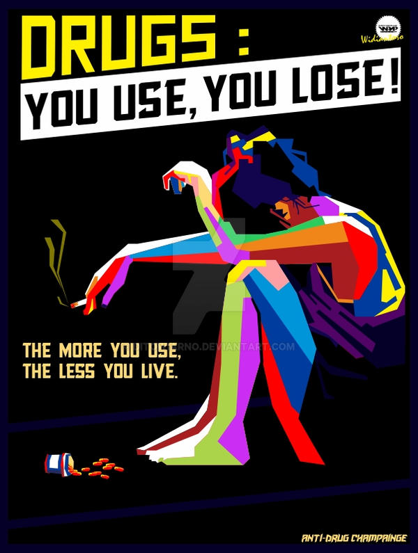 Anti Drugs Poster in WPAP By Rahmad Widiantoro by