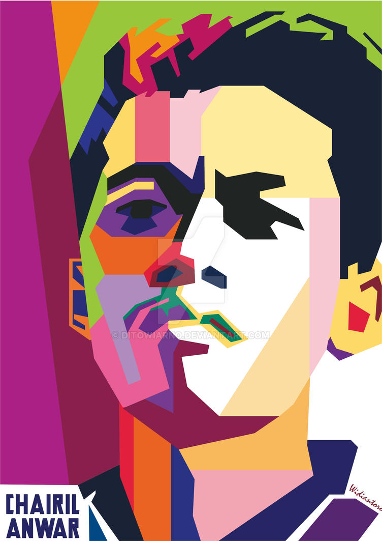 CHAIRIL ANWAR In WPAP By Rahmad Widiantoro By Ditowiarno On DeviantArt