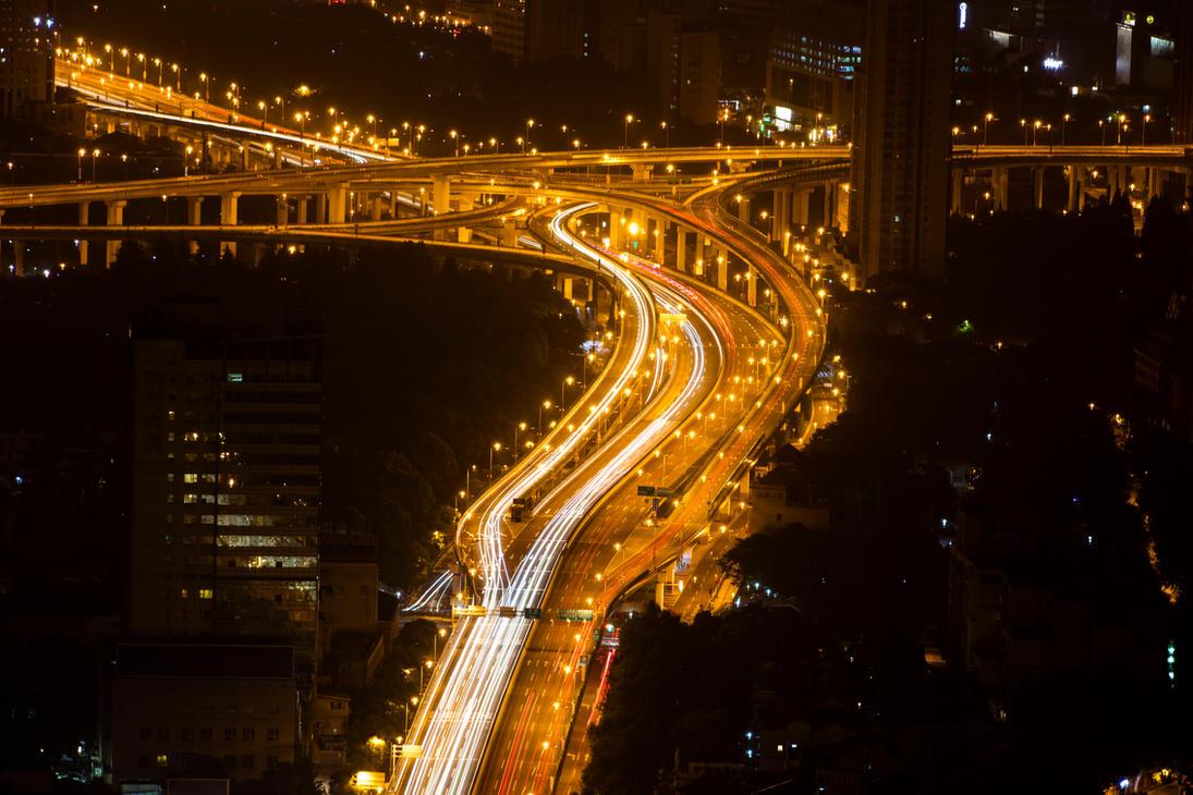 Long Exposure: Shanghai by delphotographer