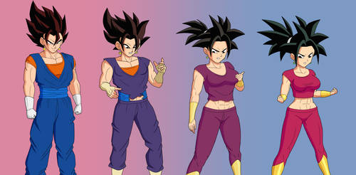 Vegetto turning into Kefla by ginyu1992