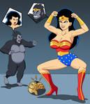 Wonderwoman and Grodd Body swap
