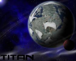 Titan Space Wallpaper
