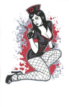 Sexy Goth Nurse by Scott Blair