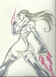 Psylocke by Khary Randolph by integralsmatic