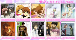 My Top 10 Favorite Anime Couples by GreenwavesInactive