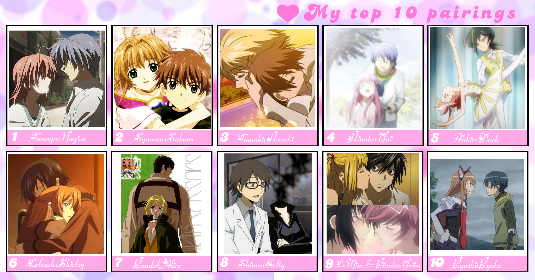 GreenwavesInactive My Top 10 Favorite Anime Couples By