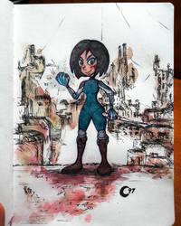 Alita (Watercolor)
