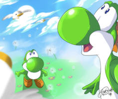 Yoshi's Inspiration by super-tuler
