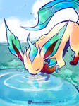 Thirsty Leafeon