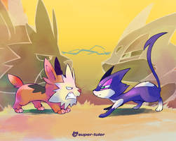 Cats n' Dogs by super-tuler