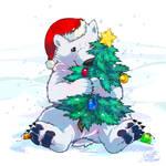 Polar bear has a Christmas by super-tuler